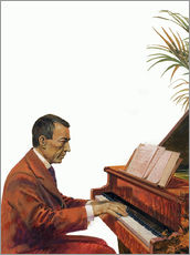 Autocolante decorativo  Rachmaninoff playing the piano - Andrew Howat