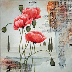 Autocolante decorativo  Poppies - Franz Heigl