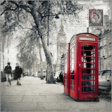 Autocolante decorativo Postcard From London 01