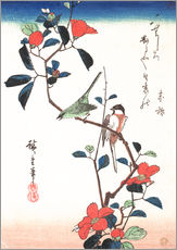 Autocolante decorativo  Flowers and Birdsin - Utagawa Hiroshige