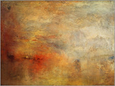 Autocolante decorativo  Pôr-do-sol sobre um lago - Joseph Mallord William Turner