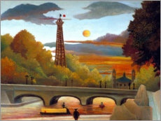 Quadro em plexi-alumínio  Seine and Eiffel Tower in the evening sun - Henri Rousseau