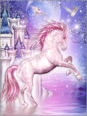 Autocolante decorativo  Pink Magic Unicorn - Dolphins DreamDesign