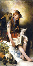Autocolante decorativo  The witch's daughter - Carl Larsson