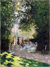 Autocolante decorativo  No parque Monceau - Claude Monet