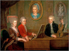 Autocolante decorativo  The Mozart family making music - Johann Nepomuk della Croce