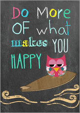 Autocolante decorativo  Do more of what makes you happy - GreenNest