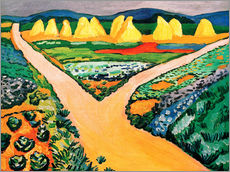 Autocolante decorativo  Vegetable Fields - August Macke