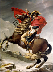 Autocolante decorativo  Napoleon crossing the Alps - Jacques-Louis David