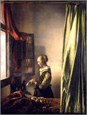 Autocolante decorativo  Girl reading a letter at an open window - Jan Vermeer