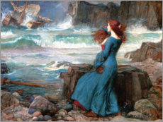 Quadro em PVC  Miranda - The Tempest - John William Waterhouse