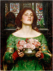 Autocolante decorativo  Gather Rosebuds While May - John William Waterhouse