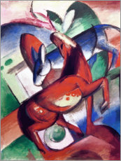 Póster Premium  Horse and donkey - Franz Marc