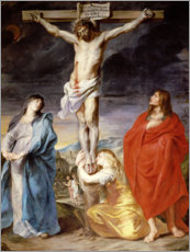Quadro em tela  Christ on the Cross with the Virgin, St. John and Mary Magd - Anthonis van Dyck