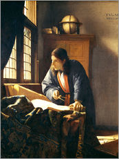 Autocolante decorativo  A geographer or astronomer in his study - Jan Vermeer