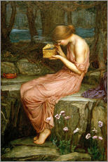 Quadro em plexi-alumínio  Psyche opening the golden box - John William Waterhouse