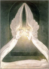 Autocolante decorativo  Christ in the Sepulchre, Guarded by Angels - William Blake