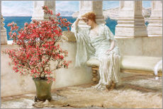 Quadro em plexi-alumínio  Her eyes are with her thoughts and they are far away - Lawrence Alma-Tadema