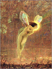 Autocolante decorativo  Iris, detail of the fairy - John Atkinson Grimshaw