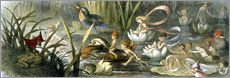 Quadro em plexi-alumínio  Water-Lilies and Water Fairies - Richard Doyle
