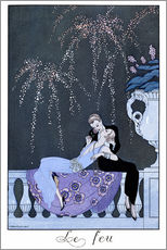 Autocolante decorativo  The Fire - Georges Barbier