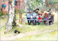 Autocolante decorativo  Breakfast under the big birch - Carl Larsson