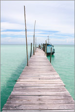 Autocolante decorativo  Wooden jetty on tropical exotic island - Alejandro Moreno de Carlos
