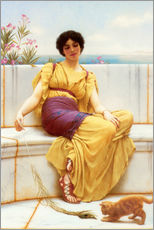 Autocolante decorativo  Ociosidade - John William Godward