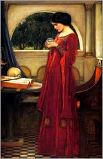 Autocolante decorativo  A bola de cristal - John William Waterhouse
