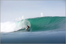 Autocolante decorativo  Surfer in paradise - big green surfing wave - Paul Kennedy