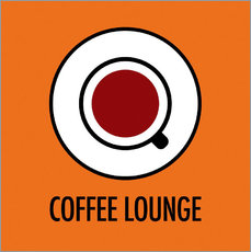 Autocolante decorativo Coffee Lounge, orange