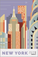 Autocolante decorativo  new york skyline - Nigel Sandor