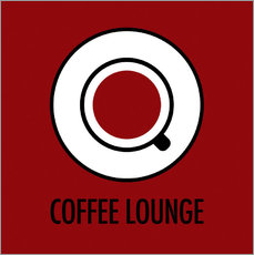 Autocolante decorativo Coffee Lounge, brown