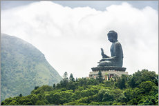 Autocolante decorativo  TianTan Buddha in Lantau - Jan Christopher Becke