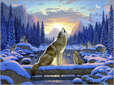 Autocolante decorativo  Wolf learns the howling - Chris Hiett