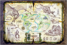 Quadro em plexi-alumínio  Dragons of the world - Dragon Chronicles