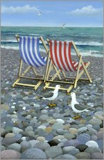 Autocolante decorativo  Deck Chairs - Peter Adderley