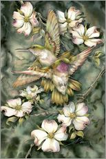 Autocolante decorativo  Hummingbirds and flowers - Jody Bergsma