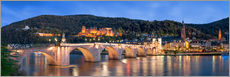 Quadro em plexi-alumínio  Heidelberg skyline panorama at night with castle and Old Bridge - Jan Christopher Becke