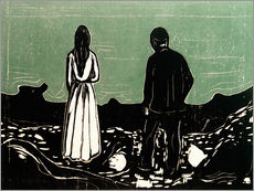 Autocolante decorativo  Two People (The Lonely Ones) - Edvard Munch