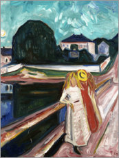 Póster Premium  The Girls on the Bridge - Edvard Munch