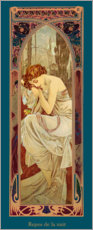 Quadro em PVC  Times of the Day - Night's Rest - Alfons Mucha