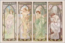 Autocolante decorativo  As horas do dia - Alfons Mucha