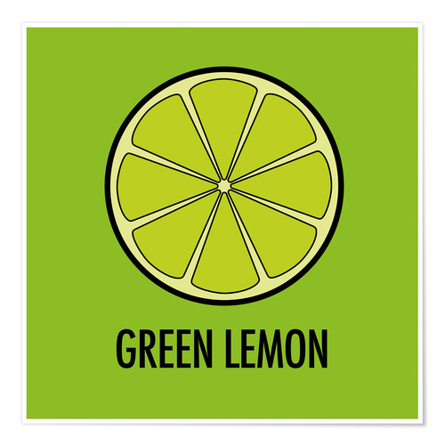 Póster Premium Green Lemon Juice