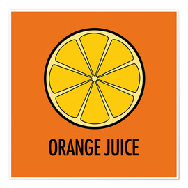 Póster Premium Orange Juice