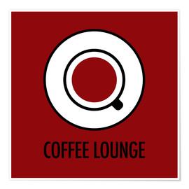 Póster Premium Coffee lounge, red