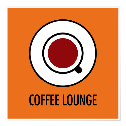 Póster Premium Coffee Lounge, orange