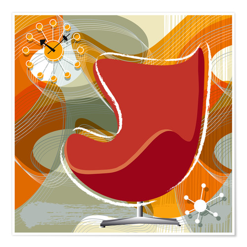 Póster Premium Egg Chair