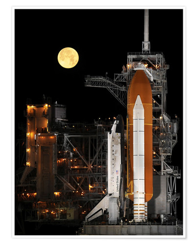 Póster Premium Space shuttle Discovery