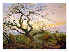 Póster Premium  The Tree of Crows - Caspar David Friedrich